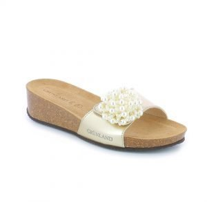 Grünland ANIN ladies cork wedge sandals. Designed for comfortable walking and relaxation.