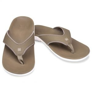 Spenco Yumi Men's Flip Flops with Arch Support. Accepted by Podiatrists for relieving and recovering from foot pain.