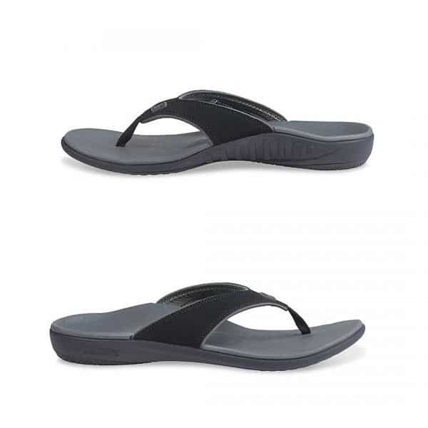 Side view of the Spenco Yumi Plus for Men. Designed to help recovery from foot pain. Available in Singapore at Footkaki, a little comfort shoe shop run by a Pedorthist and his son.