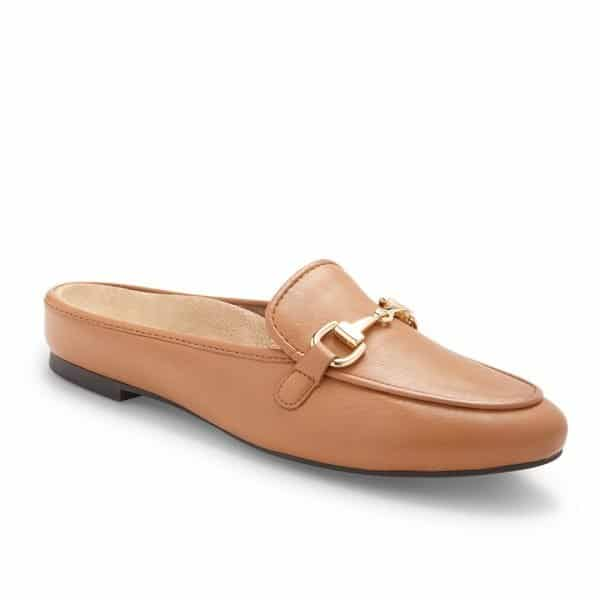 The Vionic Adeline in Caramel - a smart casual slip on shoe for ladies with arch support. Available in Singapore at Footkaki.
